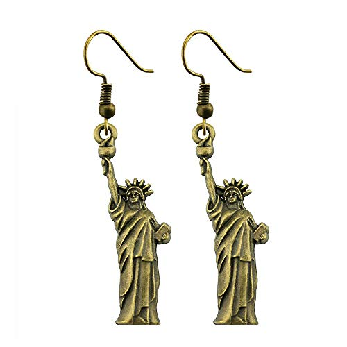 WYSIWYG 3 Pairs Drop Earrings Fashion Earrings for Women Statue of Liberty 49x14mm with Earring Backs Stopper