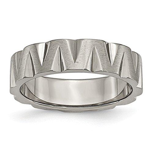 titanium notched 6mm wedding ring band size