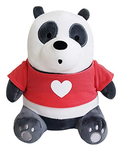 (C&H We Bare Bears with T-Shirt Panda Sitting Plush Doll 10