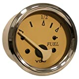 Vdo Allentare Teak Fuel Level Gauge - Use W/Marine 240-33 Ohm Fuel Senders - 12v