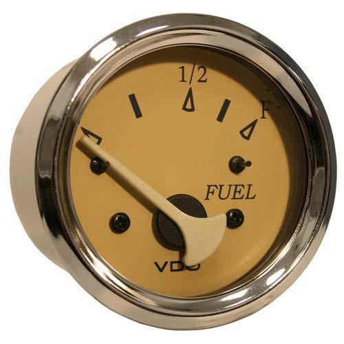 Vdo Allentare Teak Fuel Level Gauge - Use W/Marine 240-33 Ohm Fuel Senders - 12v by ''Vdo''