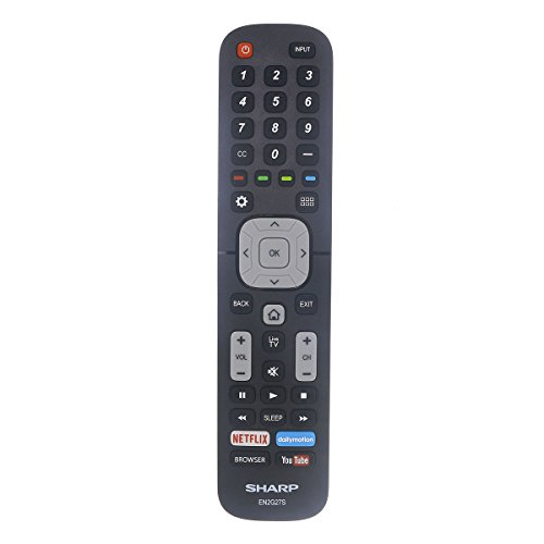 OEM Genuine Sharp TV Remote Control for All 4K Ultra HD 2016 and Newer Sharp Smart Televesions EN2G27S EN2AF27S EN2A27S EN2A27ST EN2AD27S LC40N5000 LC43N5000 LC43N610 LC43N6100 LC43N7000 (Sharp Uhd 4k)