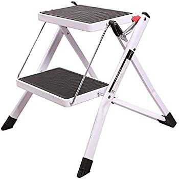 Redcamp Small Step Ladder 2 Step Stool For Adults Sturdy