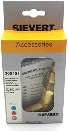 Sievert 305401 Hose Failure Valve Fits Pro Range