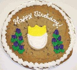(Scott's Cakes 2 lb. Chocolate Chip Cookie Cake with Iced Tulip Sugar Cookie)