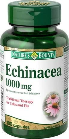 Nature s Bounty Echinacea 1000 mg, 100 Capsules Packaging May Vary