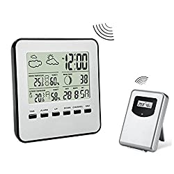 LtrottedJ Digital Weather Station Channel Thermometer Wireless Weather Monitor Radio