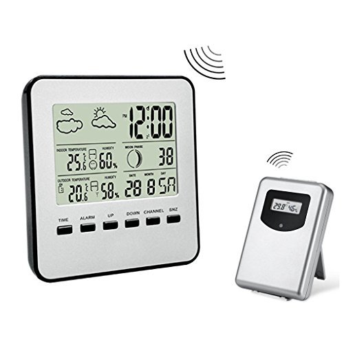 Price comparison product image LtrottedJ Digital Weather Station Channel Thermometer Wireless Weather Monitor Radio