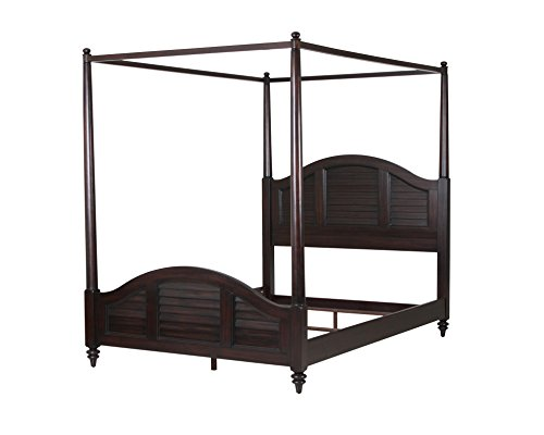 Home Styles Model 5542-510 Bermuda Canopy Bed, Queen, Espresso Finish (Queen Canopy Wood)