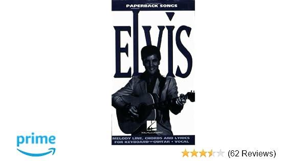 Elvis Paperback Songs Series Elvis Presley 0073999808025 Amazon
