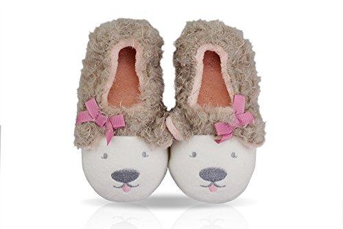 LA PLAGE Child Lamb Antiskid Cotton Household Warm Cartoon Booties Slippers (Toddler/Little Kid)
