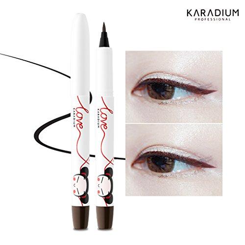 [KARADIUM] PUCCA LOVE EDITION Pen Eyeliner 1g - 2 Colors / Waterproof (#02 BROWN)