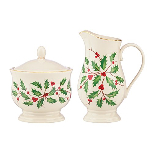 Lenox Holiday Sugar/Creamer,Ivory