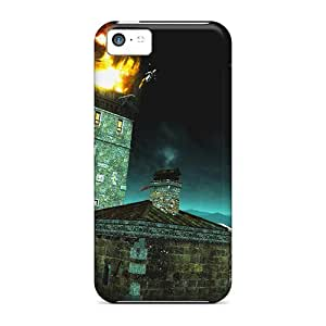 High Impact Dirt/shock Proof Case Cover For Iphone 5c (assassins Creed Guard Town Leap)