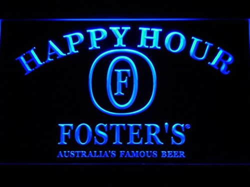 Amazon.com: Foster Bar de Cerveza Happy Hour LED Luz de Neón ...