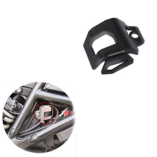 Black Motorcycle Rear Brake Fluid Reservoir Guard Protector for BMW F700GS F800GS ADV 2013 2014 2015 2016