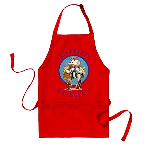 Breaking Bad Los Pollos Hermanos Logo Red Apron
