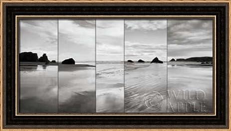 Amazon.com: Tides on Bandon Beach - Framed Art Print - 8x16 ...