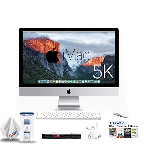 Apple iMac 27-Inch Retina 5K Desktop (3.3 GHz Intel Core i5, 8GB DDR3, 2TB Fusion, Mac OS X) MK482LL/A with 2 Year Extended Warranty + Ear Buds, Corel Software, and More. (27 Inch Imac With Retina 5k Display Price)