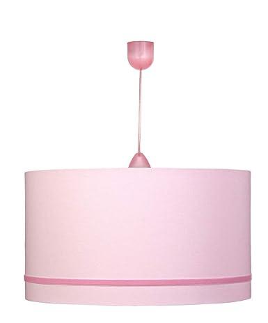 Lámpara de techo en color rosa con cinta de terciopelo ...