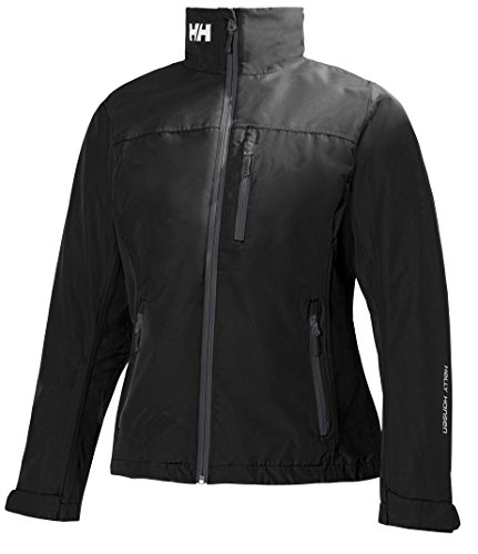 Helly Hansen Women's Crew Midlayer Fleece Lined Waterproof Windproof Breathable Rain Coat Jacket, 990 Black, XXX-Large