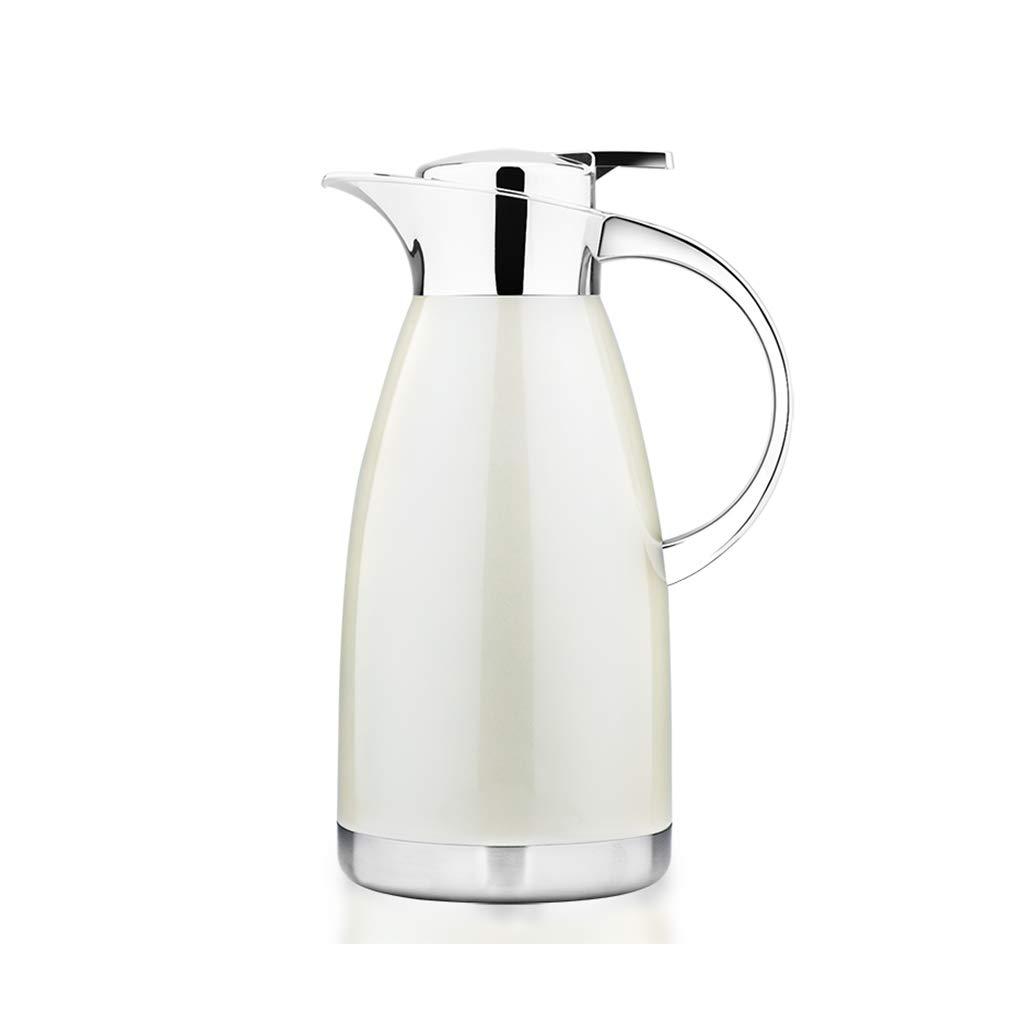 FYCZ Thermoskannen, 304 Edelstahl 2L Doppelwandige Vakuumisolierte Kaffeekanne Kaffee Plunger Juice Isolation Reisebecher B1