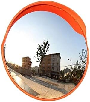 Geng カーブミラー 交通曲線コーナー盗難防止球面鏡屋外反射凹凸ミラーに交通安全プラスチック広角レンズ