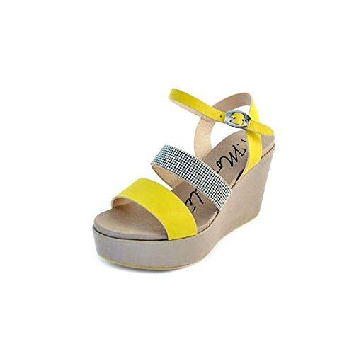 Andrea Morelli - Sandalias de vestir de Piel para mujer Amarillo amarillo