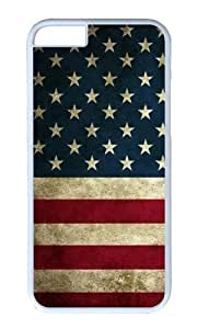 iPhone 6 Plus Case,VUTTOO Stylish American Flag Grunge Hard Case For Apple iPhone 6 Plus (5.5 Inch) - PC White