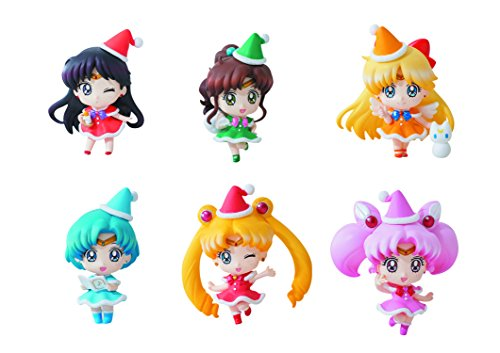 Megahouse Sailor Moon Petit Chara: Sailor Moon Mini Figures (Christmas Version)