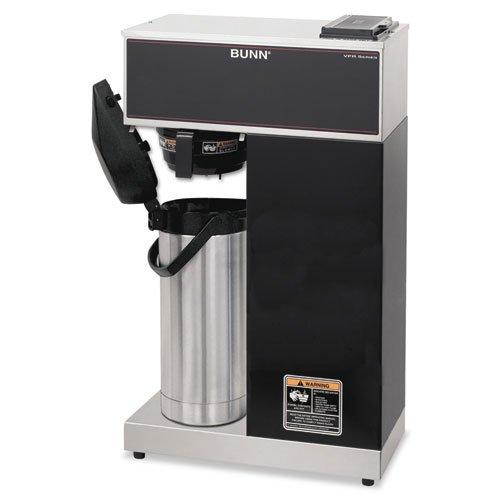BUNN - Airpot Coffee Brewer, Brews 3.8gal, Stainless Steel w/Black Accents VPR-APS (DMi EA Bunn O-matic Vpr Aps