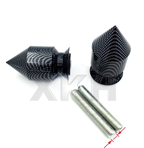 Zx12r Spike (XKH- Carbon Spike Swingarm Spools 10mm Thread No logo For Kawasaki Ninja 250R 2008-2011/ ZX-10R ZX1000 2004-2010/ ZX-12R ZX1200 2000-2005)