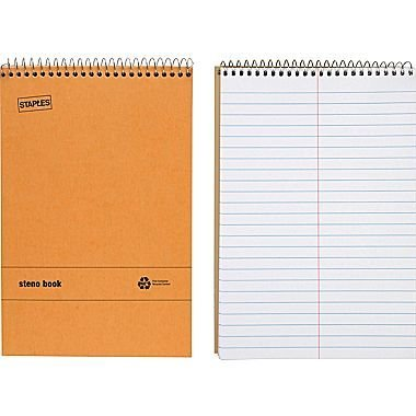 Staples Recycled Steno Book, 6