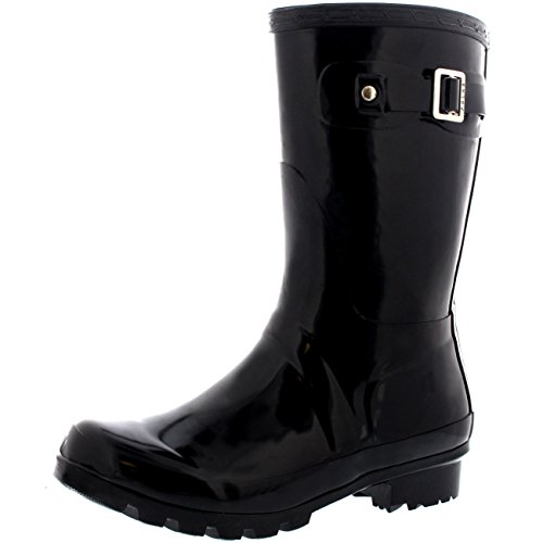 Image of Polar Products Womens Original Short Gloss Garden Winter Rain Waterproof Wellie Boots