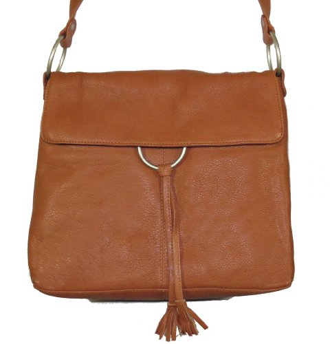 Paul & Taylor Genuine Leather Handbag with Tassel Accent ...