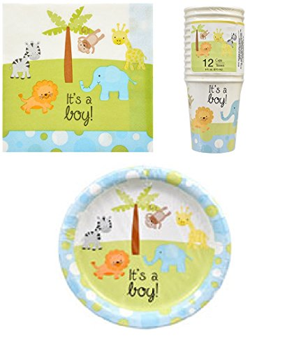 Baby Shower Paper Plates, Cups and Napkins (It's a Boy!)