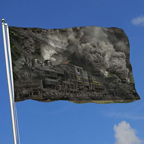 DENETRI DYERHOWARD Fly Breeze 3 X 5 Foot Flag Train Locomotive Vivid Color and UV Fade Resistant Canvas Header and Double Stitched Garden Flags (Locomotive Telephone)
