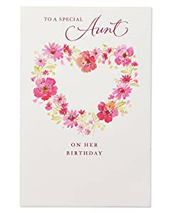 Amazon American Greetings Floral Birthday Greeting Card For