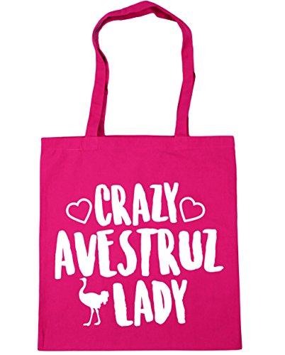 Borsa X palestra Lady Fucsia 10 Borsa con Crazy per 38cm da Capacità manici Ostrich 42cm shopping Litri Hippowarehouse spiaggia qtO1q
