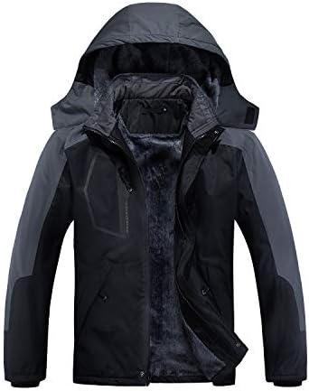 INVACHI Men's Mountain Waterproof Ski Snow Jacket Windproof Rain Jacket Winter Warm Coat