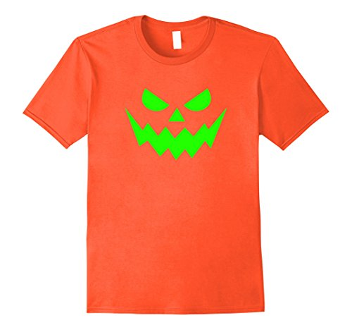 Jack O Lantern Costumes Tshirt (Mens Jack o lantern T Shirt Halloween Costume Pumpkin Face Tee Large Orange)