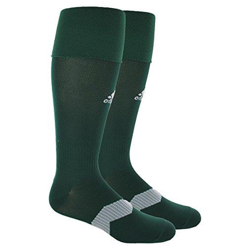 adidas Unisex Metro IV OTC Soccer Sock (1-Pair), Collegiate Green/White/Clear Grey, 9-13
