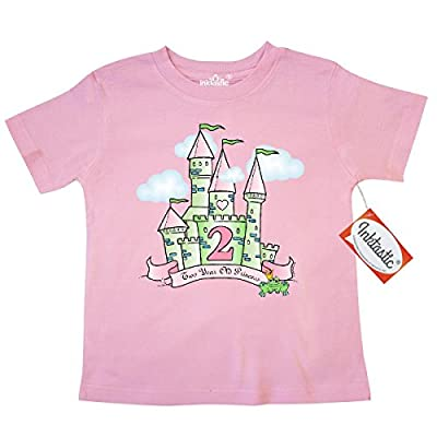Inktastic Little Girls' Castle 2nd Birthday Princess Toddler T-Shirt