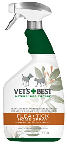 Vets Best Natural Flea  Tick Home Spray 32 oz