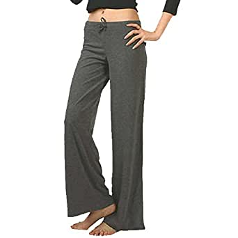 Meihuida Womens Yoga Practise Cotton Trousers Exercise Lounge Sports Long Pant(Dark Grey Lable XL)