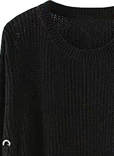 Futurino - Pull - Manches Longues - Femme -  noir - 40