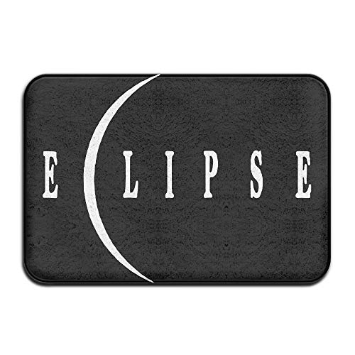 Fuucc-6 Inside & Outside Absorbs Mud Doormat Total Solar Eclipse Design Pattern for Dining by Fuucc-6