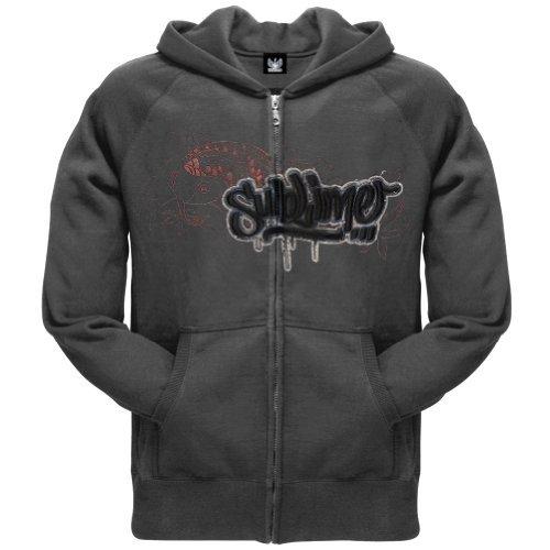 Sublime Koi - Sublime - Mens Koi Logo Zip Hoodie Medium Grey