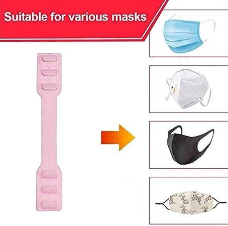 Milya 10er Pack Maskenhaken f/ür Mundschutz Ohrenschmerzen Verhindern Gesichtsdruckspuren Reduzieren Masken-Haken Maskenbandverl/ängerung Schwarz