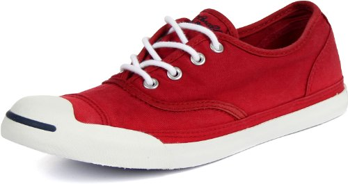 Converse Jack Purcel LP Slip On Canvas Shoes in Red, Size...